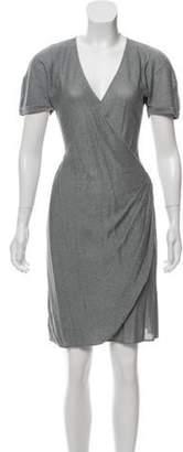 Emporio Armani Metallic Knee-Length Dress Silver Metallic Knee-Length Dress