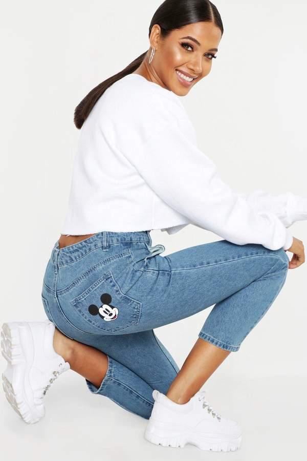Disney Mickey Graphic Mom Jeans