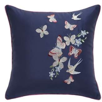 Ted Baker Butterfly Embroidered Accent Pillow