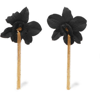 Mallarino Black Orchid Gold Vermeil And Silk Earrings