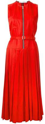 Victoria Beckham zip front pleated dress