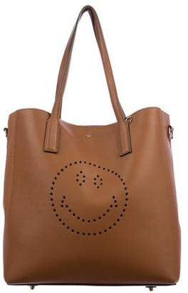 Anya Hindmarch 2016 Small Smiley Featherweight Ebury Tote