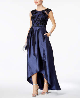 Adrianna Papell Embellished Taffeta High-Low Gown $329 thestylecure.com