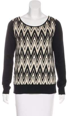 Ella Moss Chevron Print Knit Sweater