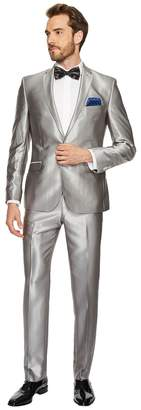 Nick Graham Two-Button Shawl Collar Solid Tuxedo Men's Suits Sets