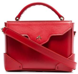 Atelier Manu red Bold micro leather cross body bag
