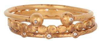 Dogeared Perfect Diamond Stack Ring Set