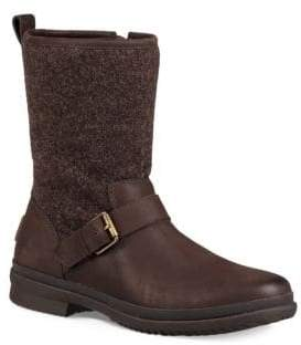 UGG Robbie Leather & Sheepskin Boots