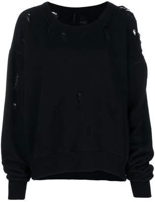 Unravel Project distressed sweatshirt