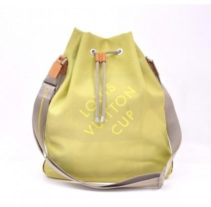 Louis Vuitton excellent (EX Volunteer Green Canvas x Leather Cup Limited Shoulder Bag