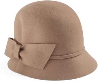 Betmar Women's Dixie Wool Bow Cloche Hat
