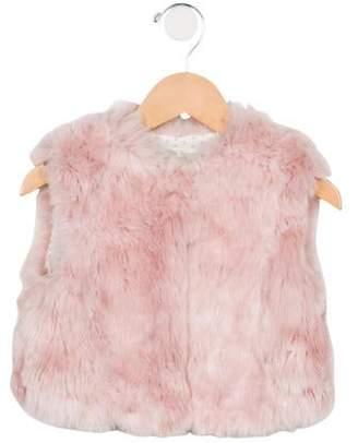 Carrera Pili Girls' Faux Fur Scoop Neck Vest