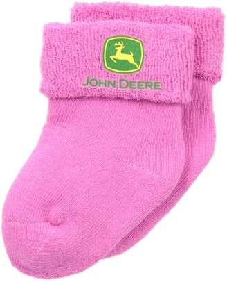 John Deere Baby Girls' Terry Bootie 1 Pack