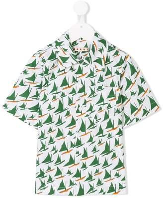 Marni sail boat print shirt