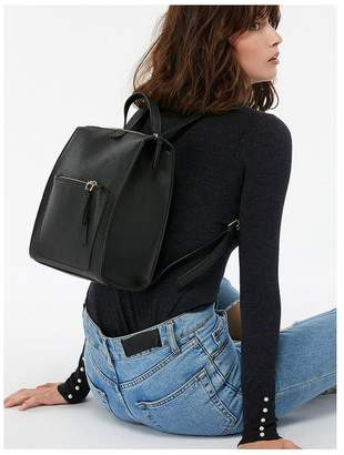 Accessorize Mila Faux Leather Backpack - Black