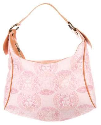 Versace Embroidered Medusa Hobo