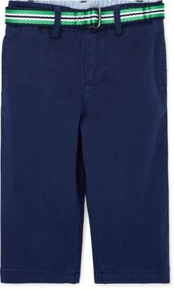 Ralph Lauren Belted Stretch Cotton Chino