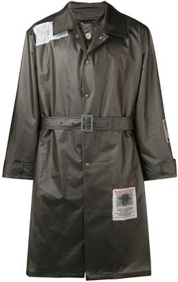 Martine Rose Wanted patches raincoat