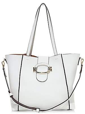 Tod's Women's Ring Leather Shopping Tote Bag