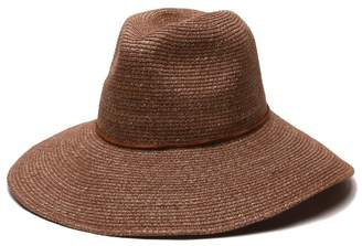 Ale By Alessandra 'ale by alessandra 'ale by alessandra Women's Sancho Adjustable Toyo Hat with Leather Trim