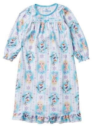 AME Frozen Elsa & Olaf Granny Nightgown (Toddler Girls)