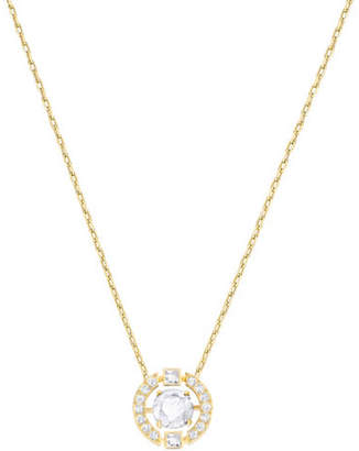 Swarovski Sparkling Dance Round Crystal Goldplated Pendant Necklace