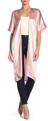 Free Press Satin Long Kimono