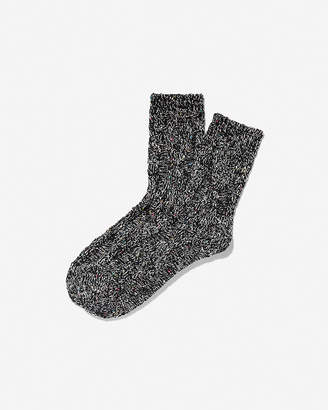 Express Popcorn Cable Knit Bootie Socks
