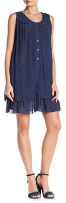 Papillon Sleeveless Front Button Dress