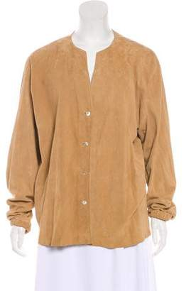 Shamask Suede Button-Up Top