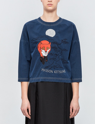 Maison Kitsune Embroidery Crop Top $240 thestylecure.com