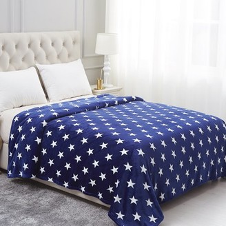 """ONLINE All Seasons Lightweight Soft Plush Fleece Blanket for Bed Sofa,Beauty Pattern Printed 79""""X89"""" inches"""