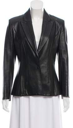 Thierry Mugler Structured Leather Blazer