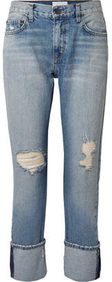 Current/Elliott The His Distressed Boyfriend Jeans - Light denim