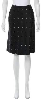 Bill Blass Printed Knee-Length Skirt