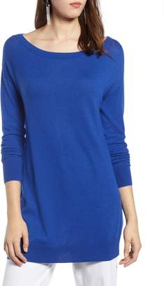 Halogen Boatneck Tunic Sweater