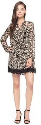 Juicy Couture Chateau Leopard Lace Trim Dress