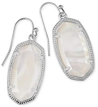 Kendra Scott Dani Silver Drop Earrings In Ivory Pearl