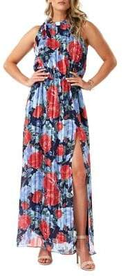ABS by Allen Schwartz Collection Floral-Print Sleeveless Maxi Dress