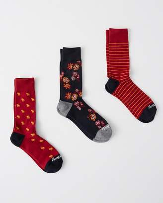 Abercrombie & Fitch 3-Pack Casual Socks Gift Set