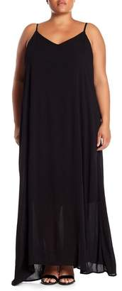 WEST KEI Gauze V-Neck Maxi Dress (Plus Size)