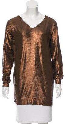 Jean Paul Gaultier Metallic V-Neck Tunic $95 thestylecure.com