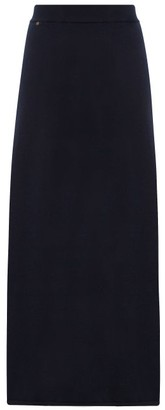 Extreme Cashmere - No. 22 Sas A Line Stretch Cashmere Skirt - Womens - Navy