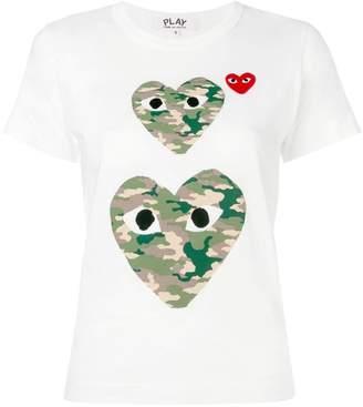Comme des Garcons heart eyes T-shirt