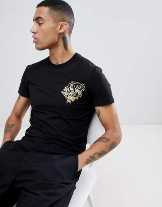 Versace t-shirt with logo print in black