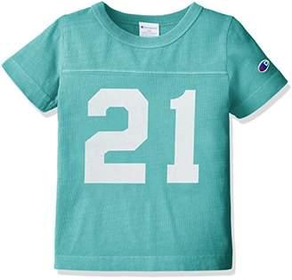 Champion (チャンピオン) - (チャンピオン) Champion 製品染めフットボールTシャツ キッズ CS4188 320 サックス 120