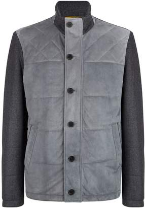 Canali Suede Panelled Jacket