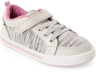 Stride Rite Toddler Girls) Silver Maxwell Stretch Lace Sneakers