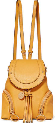 a046392735 See by Chloe Olga Small Textured-leather Backpack - Mustard