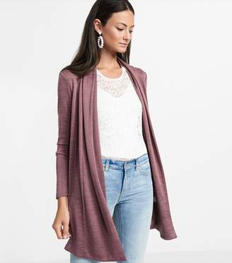 Dynamite Open Front Basic Cardigan ROSE TAUPE